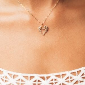 Jewelry - Seahorse Heart Shaped Necklace